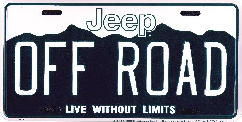 Ca License Plate Availability >> All Things Jeep - Jeep OFF-ROAD License Plate