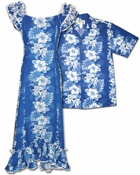 Royal Hibiscus Hawaiian Shirts & Dresses