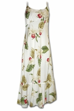 Olomana Orchid White Spaghetti Flounce Dress