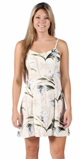 Bamboo Paradise Cream Spaghetti Dress