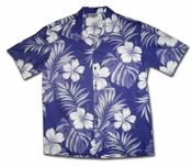 Big Hibiscus Purple Hawaiian Shirt