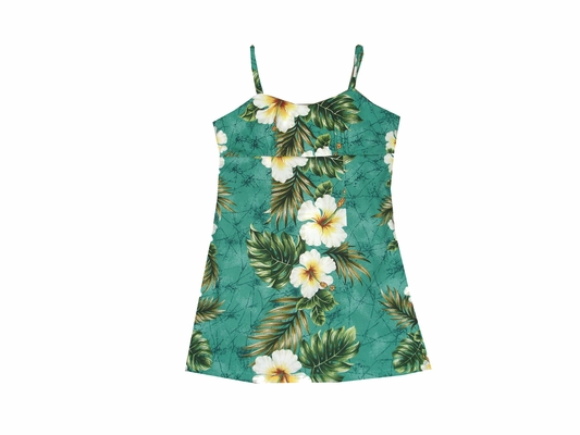kalakaua Green Girls Spaghetti Dress