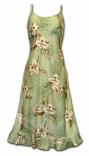 Kahala Greens Spaghetti Flounce Dress