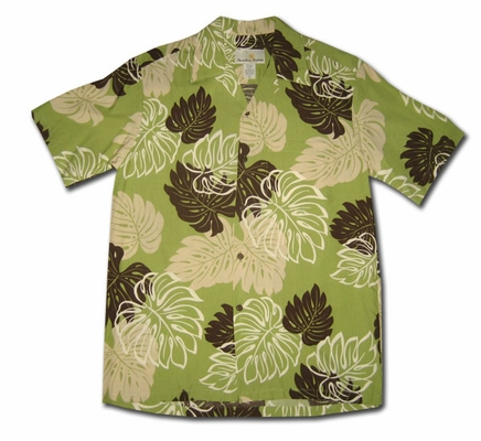 Waimanalo Green Hawaiian Shirt