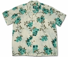 Asian Persuasion Cream Hawaiian Shirt