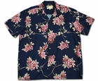 Asian Persuasion Navy Hawaiian Shirt