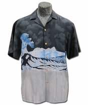 Five-0 Wave Black Hawaiian Shirt