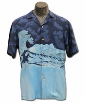 Five-0 Wave Navy Hawaiian Shirt