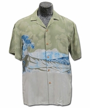 Five-0 Wave Khaki Hawaiian Shirt
