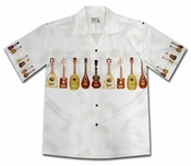 Ukulele Fest White Hawaiian Shirt