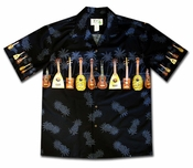 Ukulele Fest Black Hawaiian Shirt