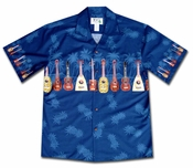 Ukulele Fest Navy Hawaiian Shirt