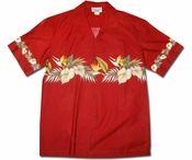 Kapalua Garden Red Hawaiian Shirt