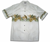 Kapalua Garden White Hawaiian Shirt
