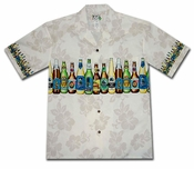Beer Fest White Hawaiian Shirt