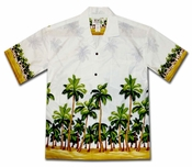 Deserted Island White Hawaiian Shirt