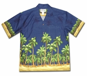 Deserted Island Navy Hawaiian Shirt