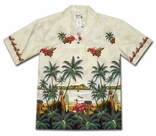 Day at the Beach Cream Hawaiian Shirt