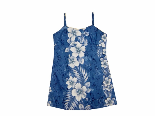 Haleiwa Blue Girls Spaghetti Dress