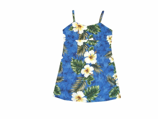 kalakaua Blue Girls Spaghetti Dress