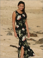 Full-Length Tank Hawaiian Dresses