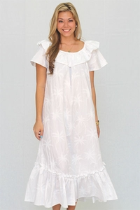 Hurricane Wedding White Muumuu
