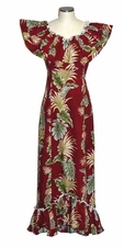 Island Enchantment Red Ruffle Muumuu