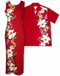 Mega Orchid Matching Hawaiian Dresses and Shirts