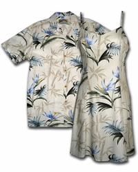 Bamboo Paradise Hawaiian Dress & Shirt