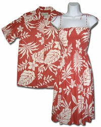 Makena Matching Hawaiian Dresses & Shirts