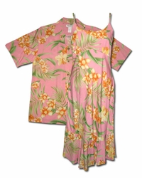 Luau Lucy/Larry Matching Hawaiian Dresses & Shirts