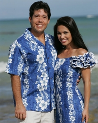 Haleiwa Matching Hawaiian Dresses and Shirts