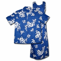 White Flower Matching Hawaiian Shirts & Dresses