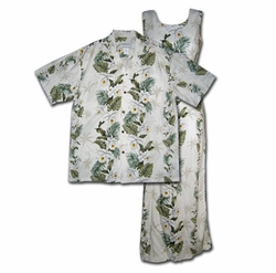Island Orchid Panel Matching Shirts & Dresses