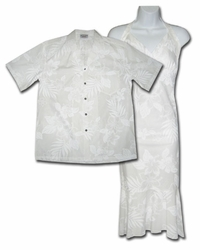 Wedding Flower Hawaiian Dress & Shirt