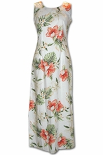 Enchantment Luau White Long Tank Hawaiian Dress