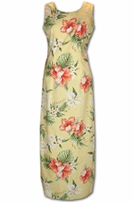 Enchantment Luau Yellow Long Tank Hawaiian Dress