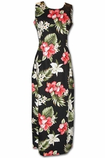 Enchantment Luau Black Long Tank Hawaiian Dress