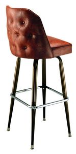 Buttoned Bucket Bar Stool