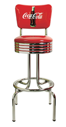 Coca Cola Seat Back Bar Stool