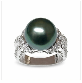 Xenia Black Tahitian South Sea Pearl Ring