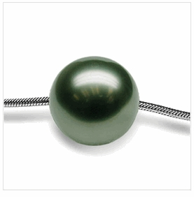 Tahitian Pearl Slider Pendant on Snake Chain