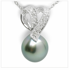 Viva a Black Tahitian Cultured Pearl Necklace