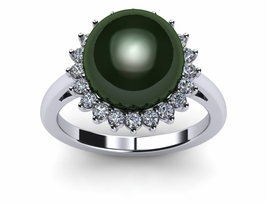 Tahitian Pearl Ring Imperial Sunflower