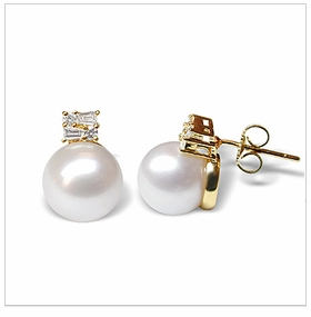 Cyrus a White Australian South Sea Cultured Pearl Earring