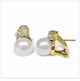Phallaina a White Australian South Sea Cultured Pearl Earring