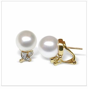 Adonia a White South Sea Cultured Pearl Earring