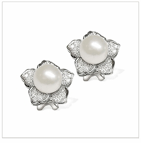 Daffodil a South Sea Cultured Pearl Earring