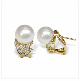 Odella a White Australian South Sea Cultured Pearl Earring