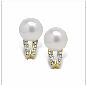 Doda a White South Sea Cultured Pearl Earring